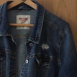Mossimo Lightly Destroyed Dark Denim Jacket